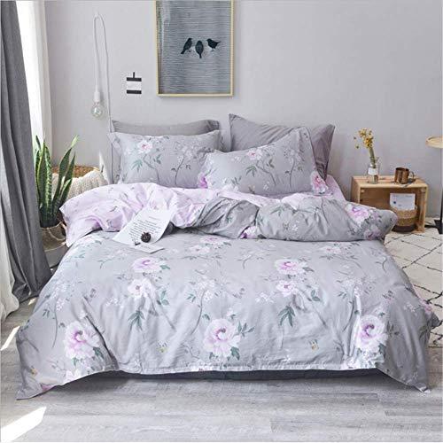 SSHHJ Bedding Set Pillow Bed Set Soft Cotton Bed Sheet Queen Size Duvet Cover Set B 200x230cm