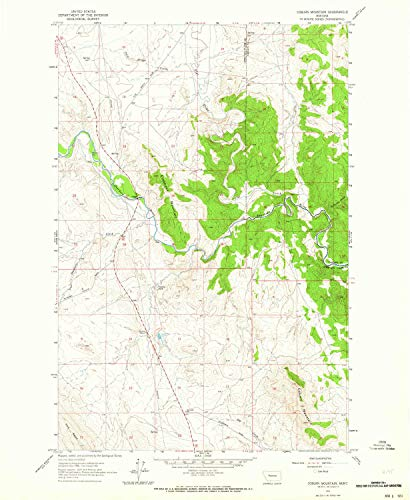 YellowMaps Coburn Mountain MT topo map, 1:24000 Scale, 7.5 X 7.5 Minute, Historical, 1961, Updated 1964, 26.8 x 22 in - Paper