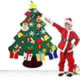 vowov felt christmas tree decorations set with ornaments double stitched wall hanging handmade - Woodsy Christmas Tree Decorations