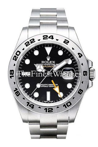 Rolex Explorer II Black Dial Stainless Steel Men