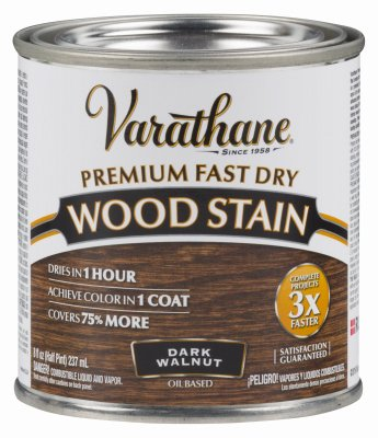 Varathane 262025 Premium Fast Dry Wood Stain 1 2 Pint Dark Walnut