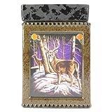 OBI Tall Ceramic Winter Deer Scene Electric Candle Warmer - Wildlife Tart Burner