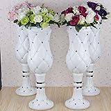 LB 4pcs Height Adjustable Plastic Roman Column Studio Photography Prop Wedding Decorative LMZ002