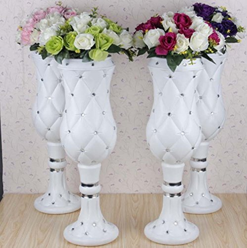 LB 4pcs Height Adjustable Plastic Roman Column Studio Photography Prop Wedding Decorative LMZ002 by LB