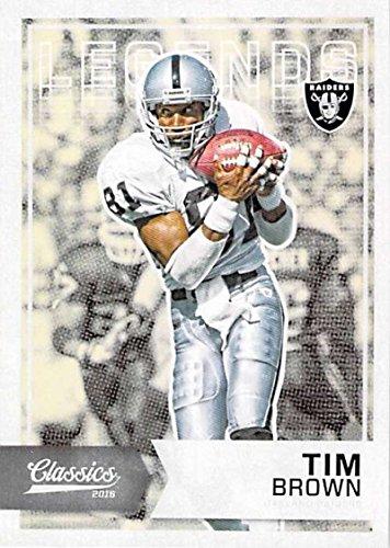 Football NFL 2016 Classics Legends #125 Tim Brown NM-MT (Tim Brown Nfl)