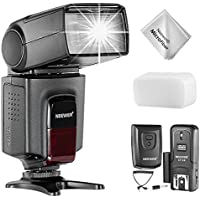 Neewer TT560 Flash Speedlite with CT-16 Wireless Trigger Kit for Canon Nikon Panasonic Olympus Pentax and Other DSLR Cameras, Hard Diffuser and Microfiber Cleaning Cloth Included