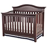 Simmons Kids Augusta Convertible Baby Crib N More, Molasses