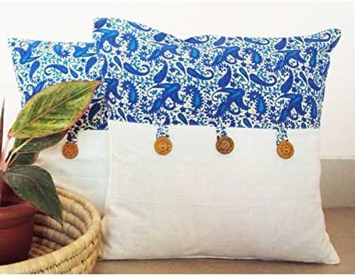 "Handmade Pretty Houseplant Print Envelope Back Cushion Cover 17"" X 17"""
