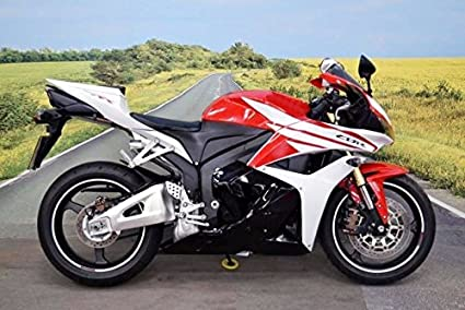 Amazoncom Black White Red Fairing Injection For 2009 2012 Honda