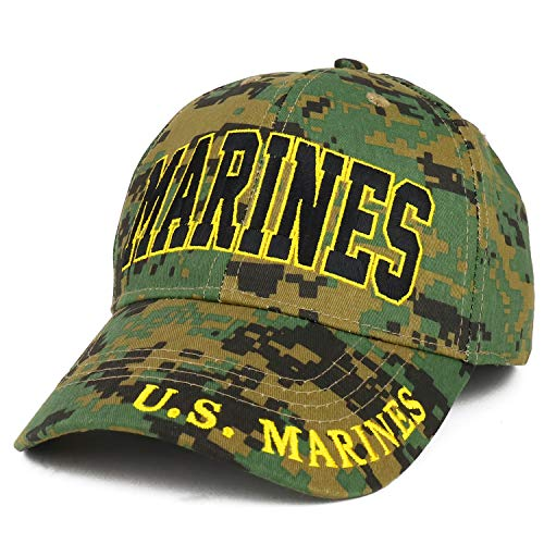 Armycrew Officially Licensed US Marine Corps Veteran Embroidered Cotton Baseball Cap - CAMO