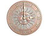 Whitehall Sunface Indoor/Outdoor CLOCK 12'' Diameter