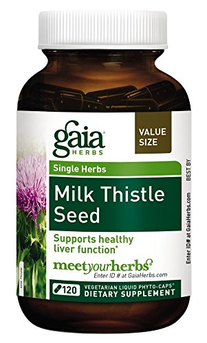 Gaia Herbs Milk Thistle Seed Liquid Phyto-Capsules, 120 Count