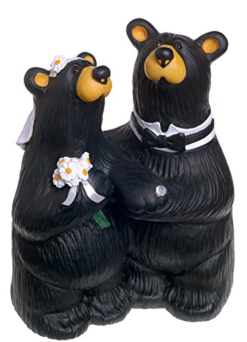 DEMDACO Wedding Couple Black Bear 6 x 4.5 Hand-cast Resin Figurine Sculpture