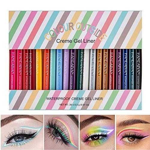 COOSA Waterproof Eye Liner Pencil Set 20 Colors Natural Matte Long Lasting Eyeliners Eye Makeup Pencils,Easy Apply…