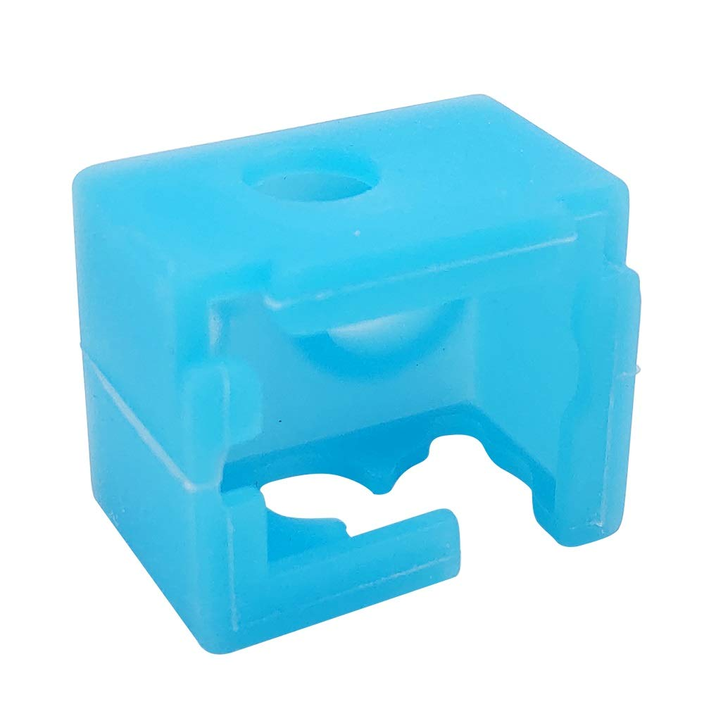 3 PCS V6 High Temperature Resistance Silicone Heated Block Cover Blue 3 PCS V6 0.4mm Brass Nozzle Compatible with E3D V6 Extruder Hotend HAWKUNG 3D Printer Silicone Sock