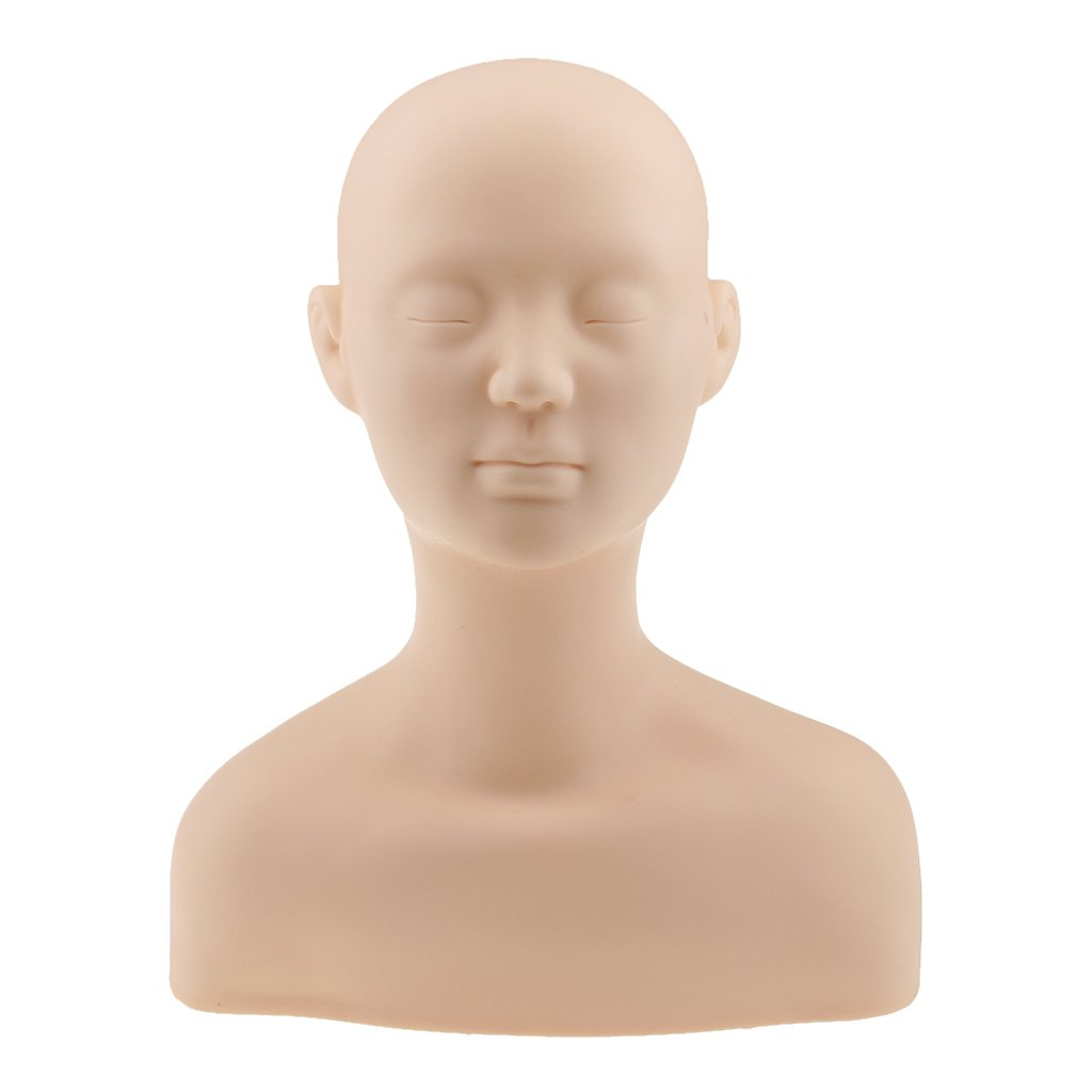 Homyl Trainingsköpfe Übungsköpfe für Kosmetik Massage Training Praxis Kopf für Wimpernverlängerung Mak-up Kopf
