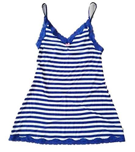 Betsey Johnson Women's Knit Stripe Slip, Navy/White, S (Betsey Johnson Camisole)