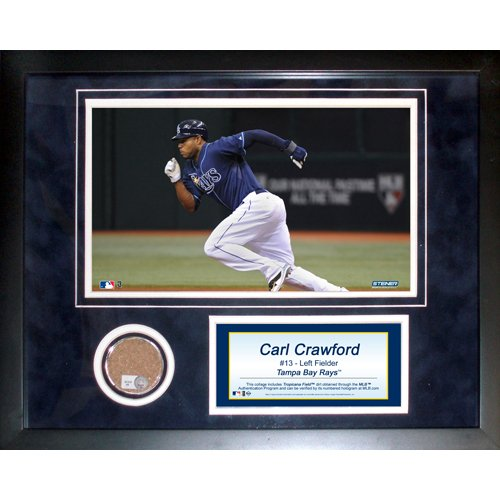 Steiner Sports MLB Tampa Bay Devil Rays Carl Crawford 11 x 14-inch Mini Dirt Collage by Steiner Sports