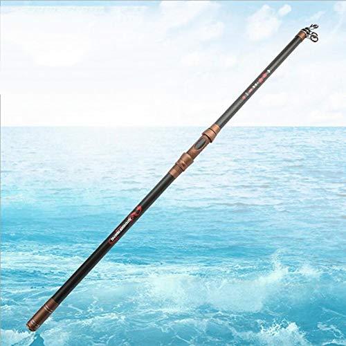 ZDMM Carbon Fishing Rod Telescopic Remote Black Rod Big Small Fish (Size : 3.0m)