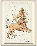 Antique Zodiac Leo Constellation Plate - 11x14 Unframed Art Print - Great Home Decor or Gift to Astrology Enthusiasts