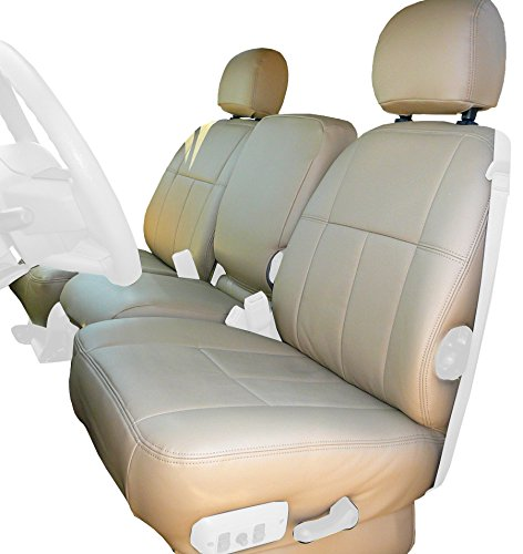 Clazzio 753531tan Tan Leather Front Row Seat Cover for Chevrolet Tahoe//Suburban