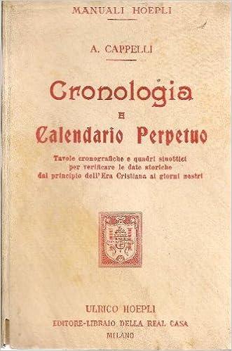 Calendario 1906.Cronologia E Calendario Perpetuo 1859 Vigotto Parma