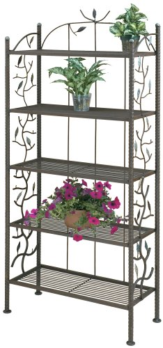 Deer Park BR109 Vine and Leaf Bakers Rack by Deer Park Ironworks