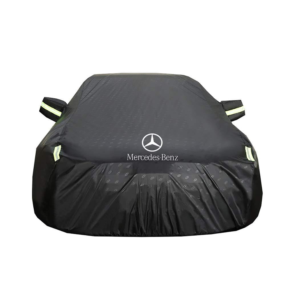 en Exteriores el Sol y los Rayos UV Bajo Techo el Viento Protecci/ón Impermeable contra la Intemperie contra el Polvo la Lluvia HWHCZ Cubierta de Coche Mercedes-Benz Class C Car Cover