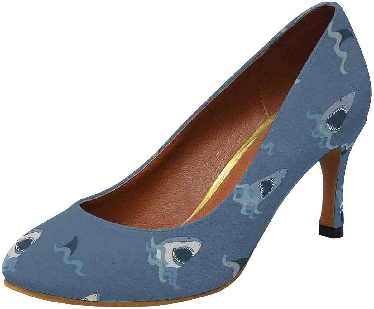 INTERESTPRINT Womens High Heels Pull On Fashion Dress Pump US5-US11