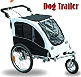 Elite II Pet Dog Bike Bicycle Trailer Stroller Jogger with Suspension44; White