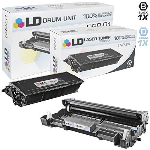 Konica Minolta Drum Cartridge - LD Compatible Toner Cartridge & Drum Unit Replacements for Konica Minolta TNP-24 High Yield & DRP-01 (1 Toner, 1 Drum, 2-Pack)