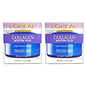 (PACK of 2) L'0real Paris Collagen Moisture Filler Facial Day/Night Cream All Skin Types