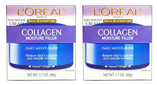 (PACK of 2) L'Oreal Paris Collagen Moisture Filler Facial Day/Night Cream All Skin Types