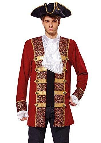 Bristol Novelty AF009 Pirate Coat, Red, 42 - 44-IncH -