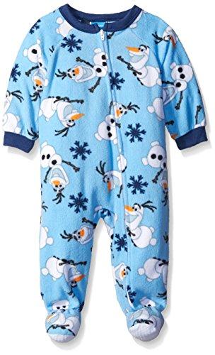 Disney Baby Olaf Snow Fun! Footed Blanket Sleeper, Blue, 18 Months