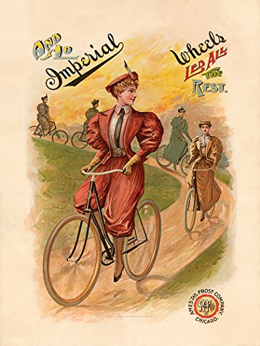 Imperial Wheels Fine Art Vintage Bicycle Poster Print (31 x 42 inches)
