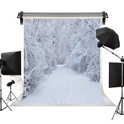 Kate 6.5x10ft/2x3m Holiday White Snow Backdrop Photography White Frozen Tree Winter Background Photo Backdrops