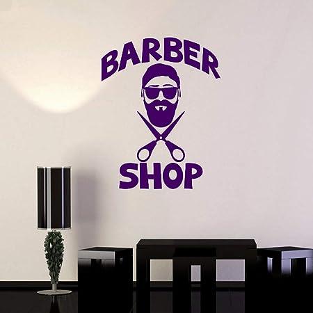xingbuxin Tatuajes de Pared Barbería Moda Pegatinas de Pared ...