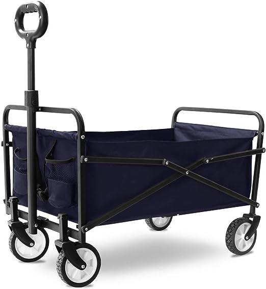 lcc Carrito de Picnic Plegable para carros de jardín Plegable para jardín, para Uso Personal, Viajes, automóviles, mudanzas y Oficina (Ruedas de tamaño Compacto de 5