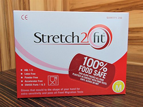 Small Red Stretch2Fit Latex-Free Unpowdered Gloves 200 Pack