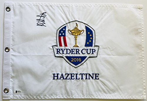 Bubba Watson signed Ryder Cup Flag 2014 hazeltine Beckett coa augusta national pga