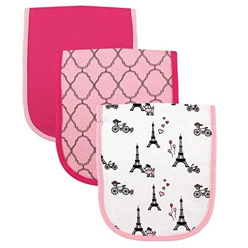 Luvable Friends 3 Piece Burp Cloth with Fiber Filling, Paris by Luvable Friends BabyVision