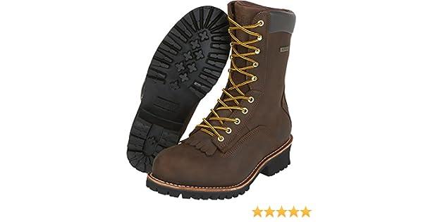 e7b9a22bfdc Gravel Gear Men's 10in. Waterproof Steel Toe Logger Work Boots - Brown,  Size 9 1/2, Model# NT200401-1ST