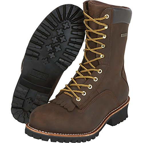 Logger Gear 1ST Toe Boots Brown Size 9 1 Steel Model Gravel Men's 2 10in Waterproof Work NT200401 YdxAgAR