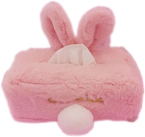 Colore: Rosa Rosa per Auto Divano Camera da Letto Porta fazzoletti a Forma di Coniglio aoory