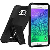 Amzer Double Layer Hybrid Case Cover with Kickstand for Samsung GALAXY Alpha SM-850F