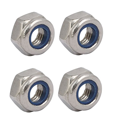 uxcell 4pcs M6 x 1mm Pitch Metric Thread 304 Stainless Steel Left Hand Lock Nuts