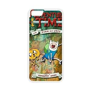 Adventure Time funda de plástico iPhone 6S 4.7 pulgadas del teléfono celular funda funda caja del teléfono celular blanco cubren ALILIZHIA08140