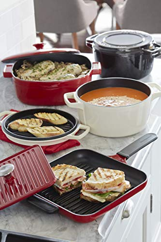 KitchenAid KCI10GPER Cast Iron Grill and Panini Press Cookware - Empire Red by KitchenAid (Image #2)