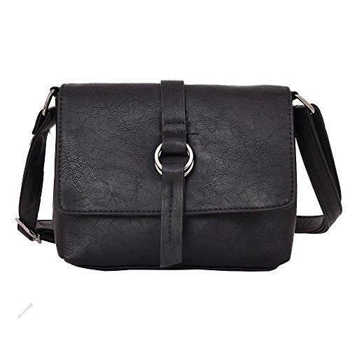 Haute For Dive Beau Ring Cross Body Bag - Grey Black